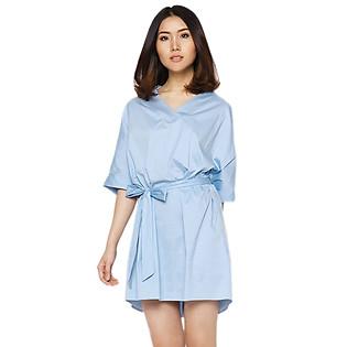 Đầm Suông Cổ V Labelle D193 - Xanh (Free Size)