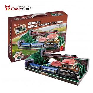 Mô Hình Giấy Cubic Fun: German Rural Railway Station [Mc141h]