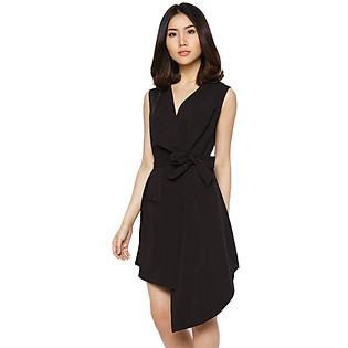 Đầm Gile Vest Vạt Chéo Labelle D192 - Đen (Free Size)