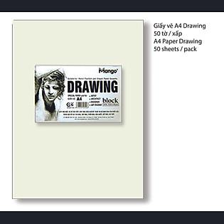 Giấy Vẽ A4 Drawing MANGO - GVA4 DR-50