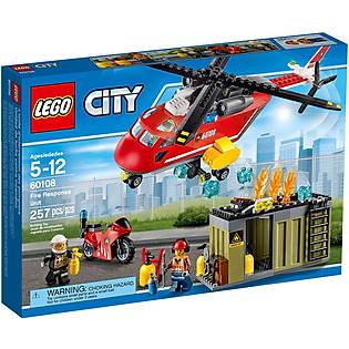 Mô Hình LEGO City Fire – Biệt Đội Cứu Hỏa 60108 (257 Mảnh Ghép)