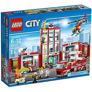 Mô Hình LEGO City Fire – Trạm Cứu Hỏa 60110 (919 Mảnh Ghép)