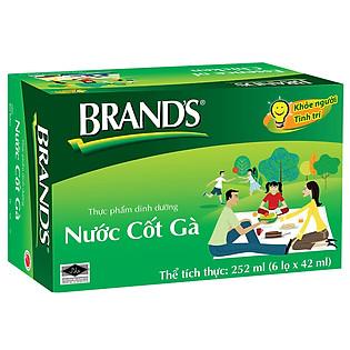 Thực Phẩm Chức Năng Hộp 6 Hũ Nước Cốt Gà Brand's (42Ml)