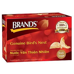 Thực Phẩm Chức Năng Hộp 6 Hũ Nước Tổ Yến Thiên Nhiên Brand's (42Ml)