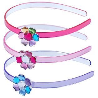Băng Đô Hoa Thủy Tinh Pink Poppy - HB-095