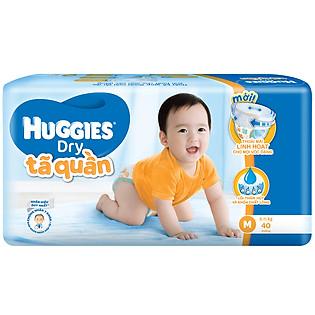 Tã Quần Huggies Dry Pants Gói Lớn Jumbo Size M (40 Miếng)