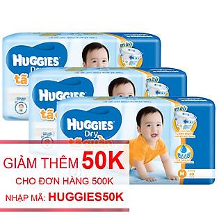 Combo 3 Tã Quần Huggies Dry Pants Gói Lớn Jumbo Size M (40 Miếng)