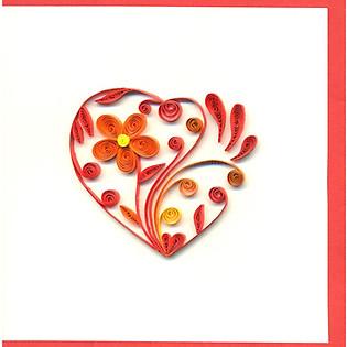 Thiệp Giấy Xoắn Việt Net - Heart (10 X 10 Cm)