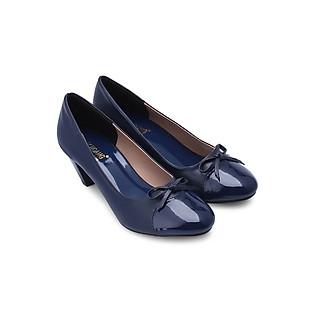 Giày Nữ Đế 5Cm Huy Hoàng HH7014 - Xanh Đậm