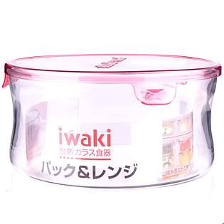 Hộp Thủy Tinh Tròn Iwaki KT7402-P (840Ml)