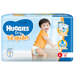 Tã Quần Huggies Dry Pants Gói Lớn Jumbo Size L (36 Miếng)