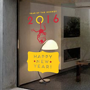 Decal Dán Tường Ninewall Year Of The Monkey HT020