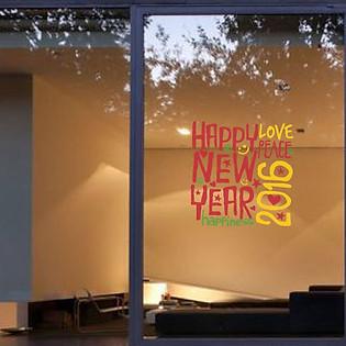Decal Dán Tường Ninewall Happy Year HT021