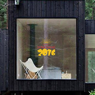 Decal Dán Tường Ninewall Happy New Year 2016 - HT032