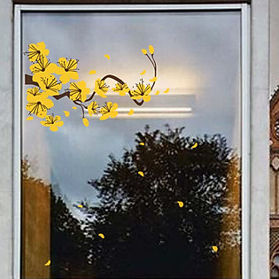Decal Dán Tường Ninewall Flower Of New Year HT035
