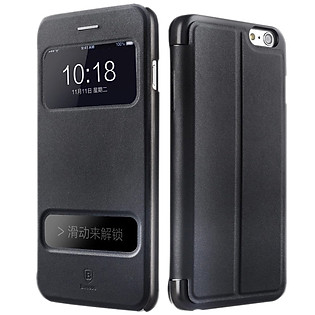 Bao Da Baseus Pure View Cho Iphone 6 - Đen