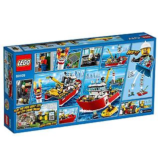 Mô Hình LEGO City Fire – Tàu Thủy Cứu Hỏa 60109 (412 Mảnh Ghép)