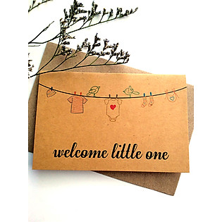 Thiệp Papermix Welcome Little One - BB10 (Nâu)