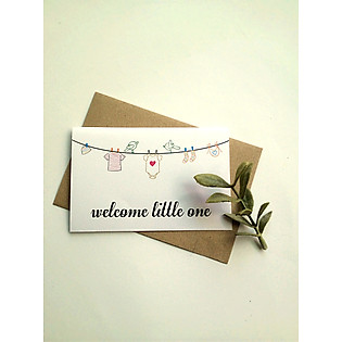 Thiệp Papermix Welcome Little One - BB10 (Trắng)