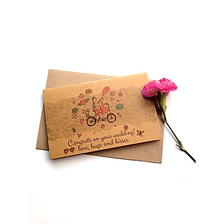 Thiệp Papermix Congrats On Your Wedding - W02 (Nâu)