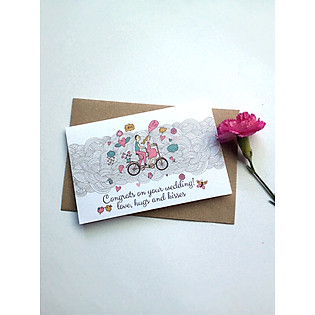 Thiệp Papermix Congrats On Your Wedding - W02 (Trắng)