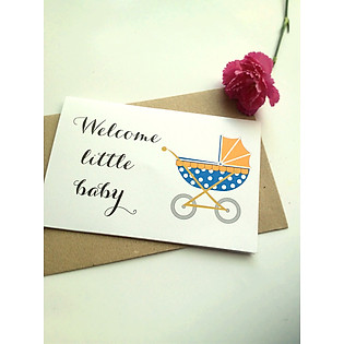 Thiệp Papermix Welcome Little Baby - BB12 (Trắng)