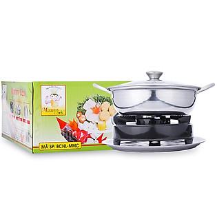 Bếp Cồn + Nồi Lẩu Inox + Khay Mommy Cook BCNL-MMC-1