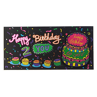 Thiệp Lovely Lace AEIOU Printing 0583 - Happy Birthday Mẫu 6