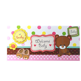 Thiệp Lovely Lace AEIOU Printing 0583 - Welcome Baby Mẫu 1