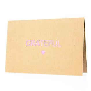 Thiệp Grateful (PGK 7) - Nâu