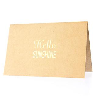 Thiệp Hello Sunshine (PGK 6) - Nâu