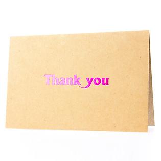 Thiệp Thank You (PGK 3) - Nâu