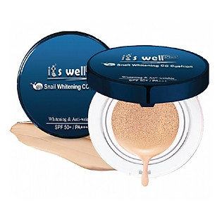 Kem Phấn Trang Điểm Snail Whitening CC Cushion It's Well Plus CCC1-RP (30G)