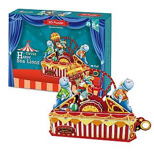 Mô Hình 3D Cubicfun – Circus Happy Sea Lion K1301h