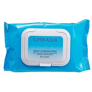 Khăn Giấy Tẩy Trang Missha Super Aqua Perfect Cleansing Tissue - E1665