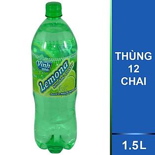 Thùng 12 Chai Nước Khoáng Chanh Lemona 1.5L
