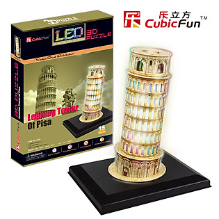 Mô Hình Giấy Cubic Fun: Pisa Tower (Đèn LED) [L502h]