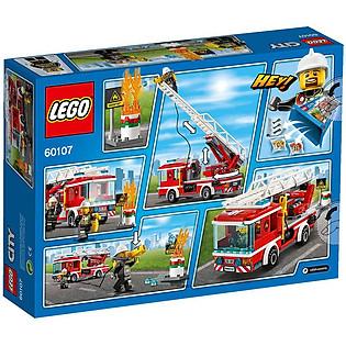 Mô Hình LEGO City Fire – Xe Thang Cứu Hỏa 60107 (214 Mảnh Ghép)