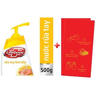Nước Rửa Tay Lifebuoy Cho Tay Làm Bếp 500G - 21126128