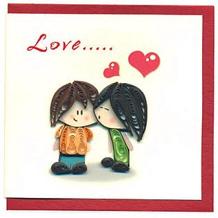 Thiệp Giấy Xoắn Việt Net - Love Is (10 X 10 Cm)