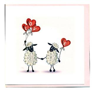 Thiệp Giấy Xoắn Việt Net - Love Valentine - Love You