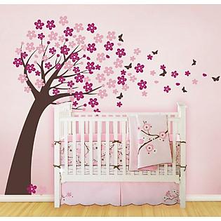 Decal Dán Tường Ninewall Cherry Blossom Tree NT030
