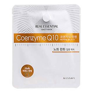 Mặt Nạ Giấy Missha Coenzyme Q10 Real Essential Sheet Mask - M1053