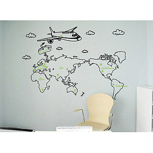 Decal Dán Tường Ninewall Travel FT002