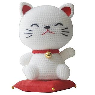 Mèo May Mắn Lucky Cat WT-072WHI-L (16 Cm X 12 Cm X 25 Cm)