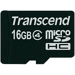 Thẻ Nhớ Micro SD Transcend 16GB Class 4