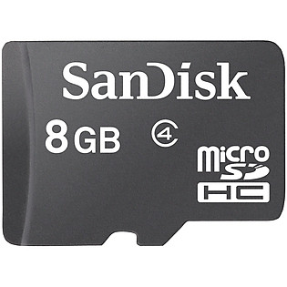 Thẻ Nhớ Micro SD Sandisk 8GB Class 4