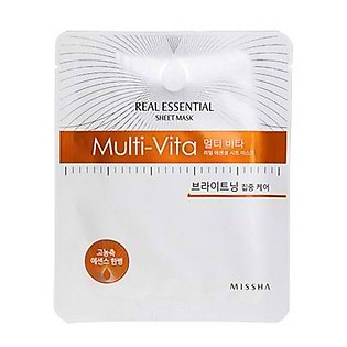 Mặt Nạ Giấy Missha Multi Vita Real Essential Sheet Mask - M1054