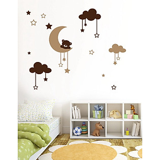 Decal Dán Tường Ninewall Moon Bear BS015