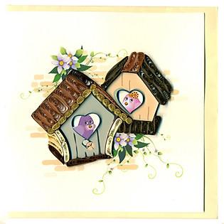 Thiệp Giấy Xoắn Việt Net - Love Valentine - My House